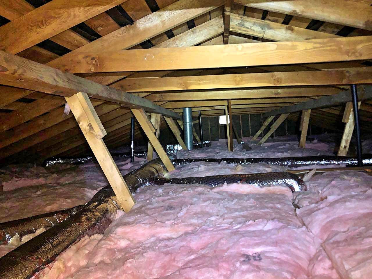 Attic Cleanup And Attic Insulation Installation In