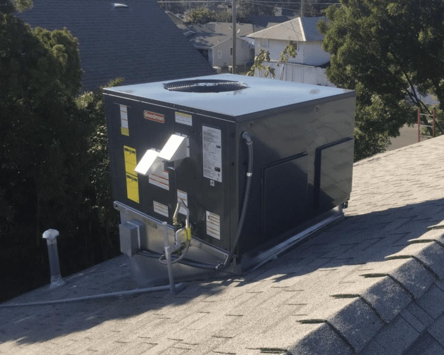 New Goodman package unit in Winnetka